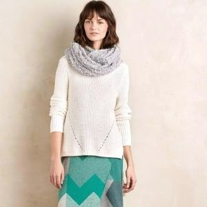 Anthropologie Moth High Low Knit Sweater